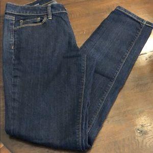 LOFT Jeans - Loft size 4 modern skinny jeans dark wash
